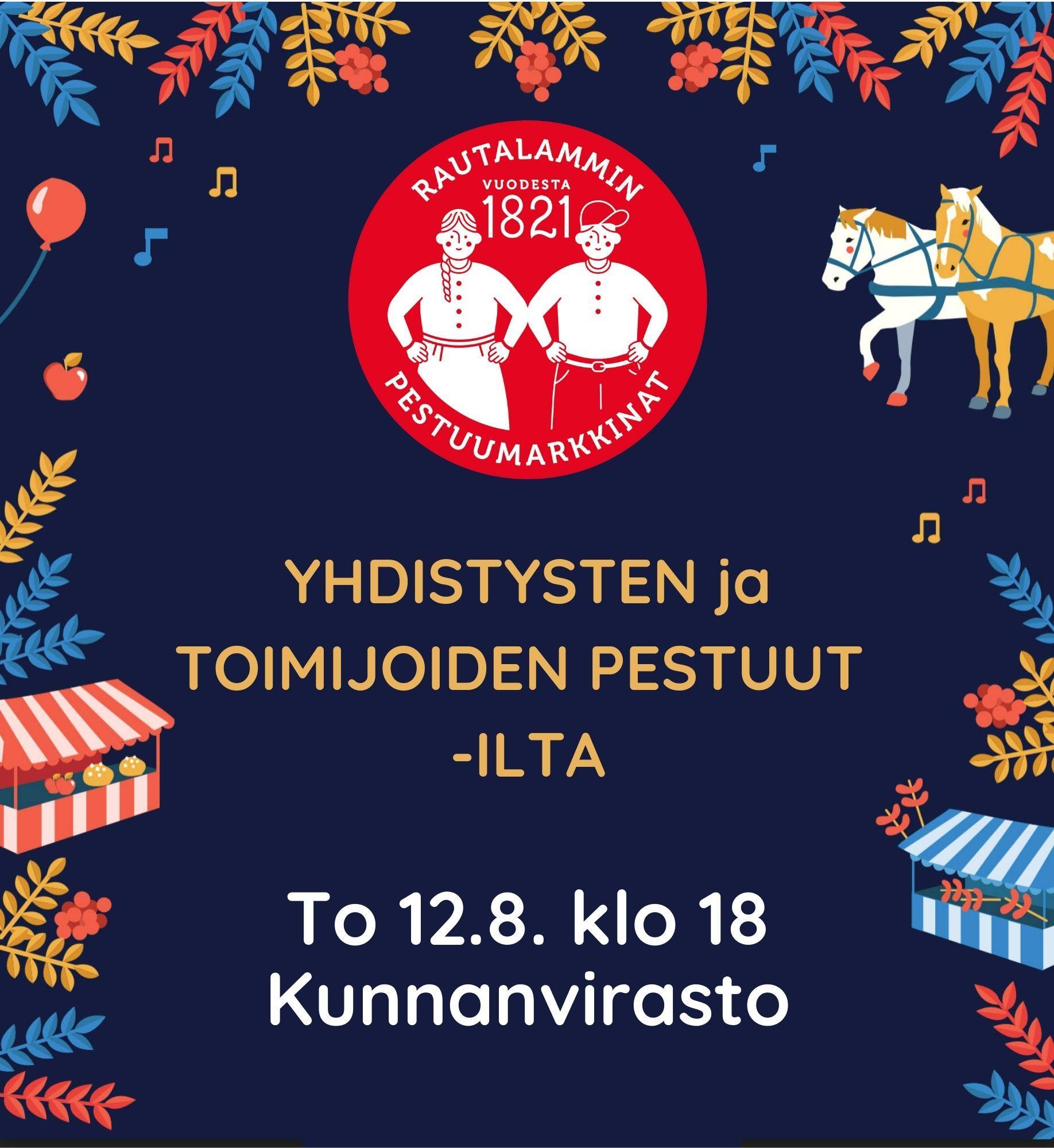Yhdistysten Pestuut-ilta 12.8